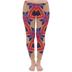 Triangles Honeycombs And Other Shapes Pattern Winter Leggings