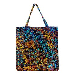 Colorful Seashell Beach Sand, Grocery Tote Bags