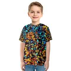 Colorful Seashell Beach Sand, Kid s Sport Mesh Tees