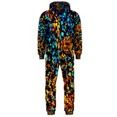 Colorful Seashell Beach Sand, Hooded Jumpsuit (Men)