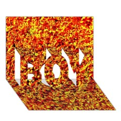 Orange Yellow  Saw Chips Boy 3d Greeting Card (7x5)