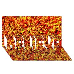 Orange Yellow  Saw Chips Believe 3d Greeting Card (8x4)
