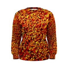 Orange Yellow  Saw Chips Women s Sweatshirts