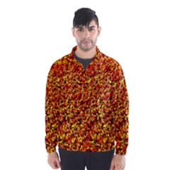 Orange Yellow  Saw Chips Wind Breaker (Men)