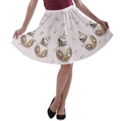 BB8 Aesthetic A-line Skater Skirt