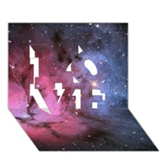 Trifid Nebula Love 3d Greeting Card (7x5)