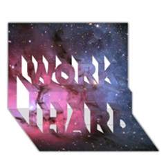 Trifid Nebula Work Hard 3d Greeting Card (7x5)
