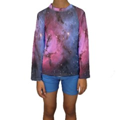 Trifid Nebula Kid s Long Sleeve Swimwear
