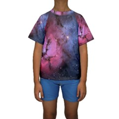 Trifid Nebula Kid s Short Sleeve Swimwear