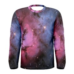 Trifid Nebula Men s Long Sleeve T Shirts