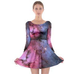 Trifid Nebula Long Sleeve Skater Dress