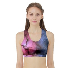 Trifid Nebula Women s Sports Bra With Border