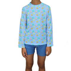 Birds Pattern2 Kid s Long Sleeve Swimwear
