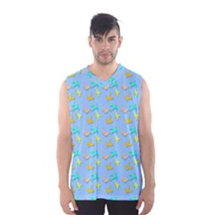 Birds Pattern2 Men s Basketball Tank Top