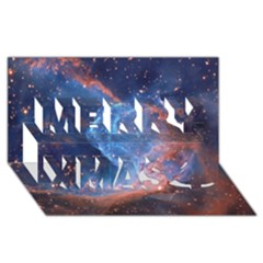Thor s Helmet Merry Xmas 3d Greeting Card (8x4)