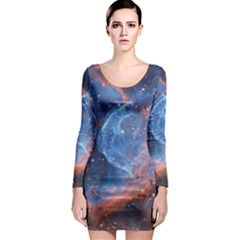 Thor s Helmet Long Sleeve Bodycon Dresses