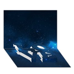 STARRY SPACE LOVE Bottom 3D Greeting Card (7x5)