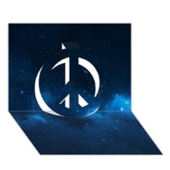 Starry Space Peace Sign 3d Greeting Card (7x5)