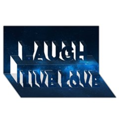 Starry Space Laugh Live Love 3d Greeting Card (8x4)
