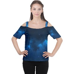STARRY SPACE Women s Cutout Shoulder Tee