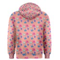 Birds Pattern on Pink Background Men s Zipper Hoodies View2