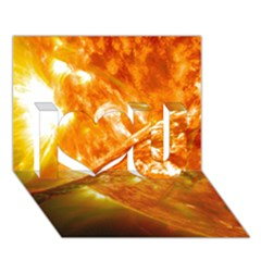 SOLAR FLARE 2 I Love You 3D Greeting Card (7x5)