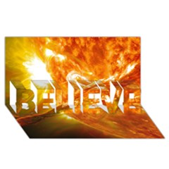 SOLAR FLARE 2 BELIEVE 3D Greeting Card (8x4)