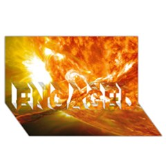 SOLAR FLARE 2 ENGAGED 3D Greeting Card (8x4)