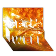 Solar Flare 2 Get Well 3d Greeting Card (7x5)