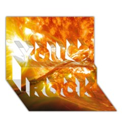 Solar Flare 2 You Rock 3d Greeting Card (7x5)
