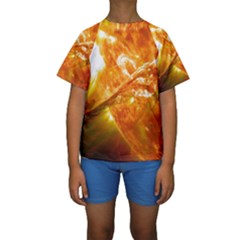SOLAR FLARE 2 Kid s Short Sleeve Swimwear