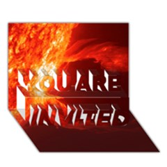 Solar Flare 1 You Are Invited 3d Greeting Card (7x5)