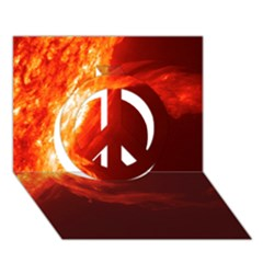 Solar Flare 1 Peace Sign 3d Greeting Card (7x5)
