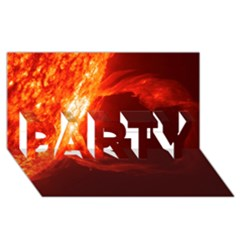SOLAR FLARE 1 PARTY 3D Greeting Card (8x4)