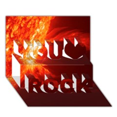 Solar Flare 1 You Rock 3d Greeting Card (7x5)