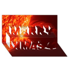 Solar Flare 1 Merry Xmas 3d Greeting Card (8x4)