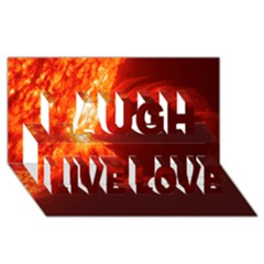SOLAR FLARE 1 Laugh Live Love 3D Greeting Card (8x4)
