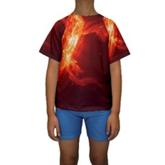 SOLAR FLARE 1 Kid s Short Sleeve Swimwear