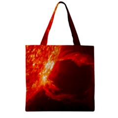 Solar Flare 1 Zipper Grocery Tote Bags