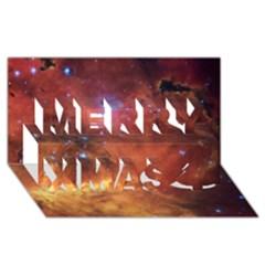 Skull & Crossbones Merry Xmas 3d Greeting Card (8x4)