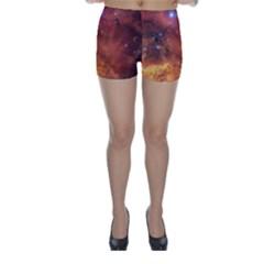 SKULL & CROSSBONES Skinny Shorts