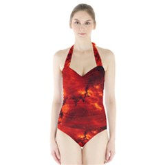 ROSETTE NEBULA 2 Women s Halter One Piece Swimsuit