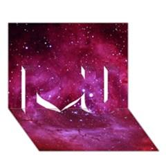 Rosette Nebula 1 I Love You 3d Greeting Card (7x5)