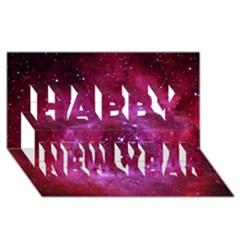 ROSETTE NEBULA 1 Happy New Year 3D Greeting Card (8x4)
