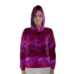 Rosette Nebula 1 Hooded Wind Breaker (women)