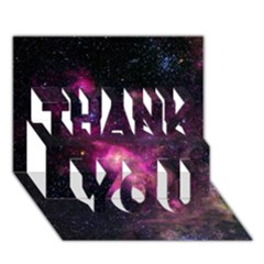 Purple Clouds Thank You 3d Greeting Card (7x5)
