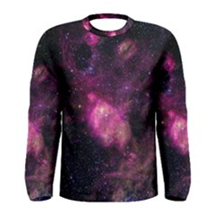 Purple Clouds Men s Long Sleeve T Shirts