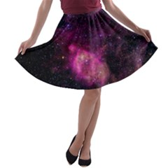 PURPLE CLOUDS A-line Skater Skirt