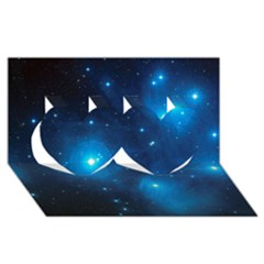 Pleiades Twin Hearts 3d Greeting Card (8x4)