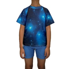 Pleiades Kid s Short Sleeve Swimwear